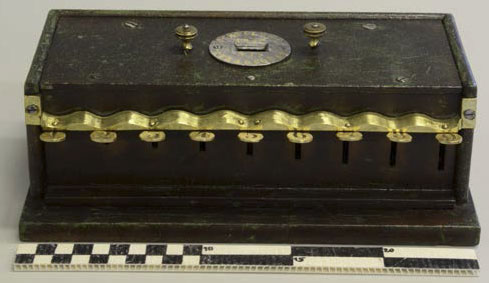 The key adder of Schwilgué, a device from 1846 ((© Historical Museum Strasbourg)
