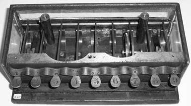 The inside of calculating machine of Schwilgué in Zurich (Courtesy of the Swiss Federal Institute of Technology and Mr. Denis Roegel)
