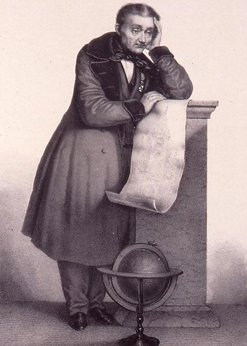 Jean-Baptiste Schwilgué, portrait by Gabriel-Christophe Guérin from 1843