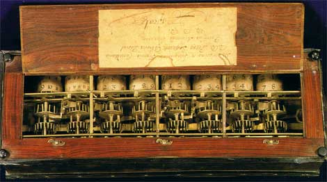 A view to the digital cylinders of Pascaline