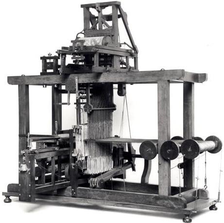 A reconstruction of Vaucanson's loom (© CNAM, Paris)