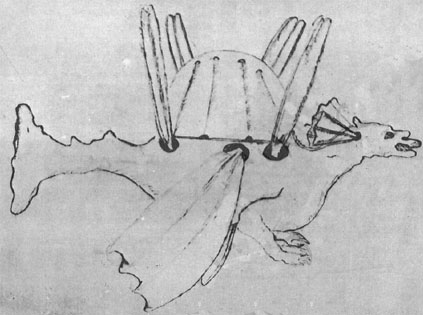A sketch from the treatise Dragon Volant by Burattini
