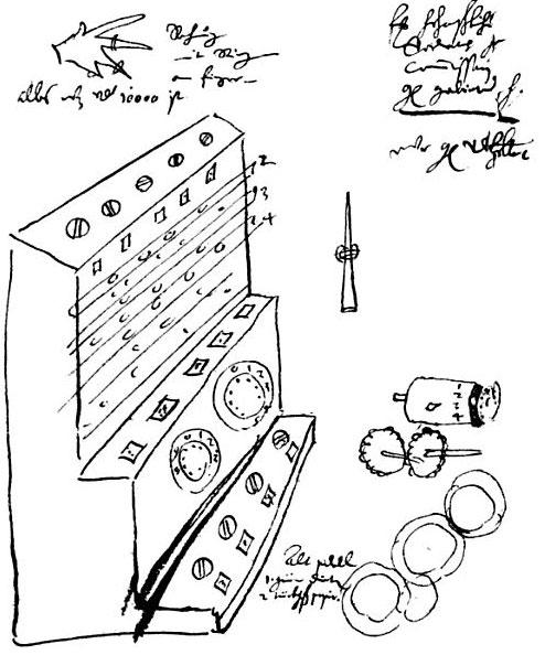 The sketch from the Württembergischen Landesbibliothek in Stuttgart