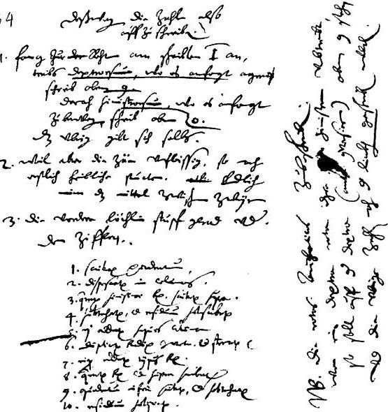 The instructions to the mechanician from the Württembergischen Landesbibliothek in Stuttgart