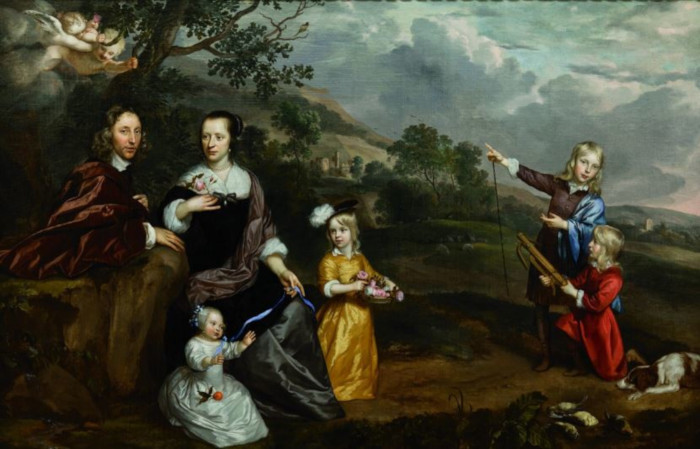 The Cotterell Family, painted by Dutch artist Jan Mytens in 1657