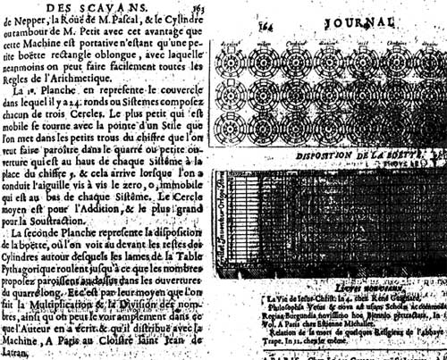 Pages 163 and 164 from Journal des Sçavans, describing the machine of Grillet