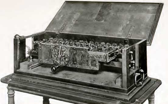 One of the old machines of Leibniz