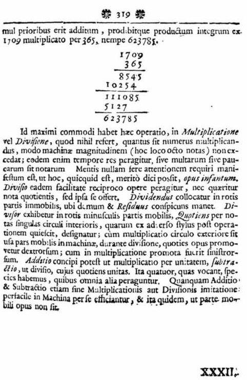 Brevis descriptio Machinae Arithmeticae, cum Figura