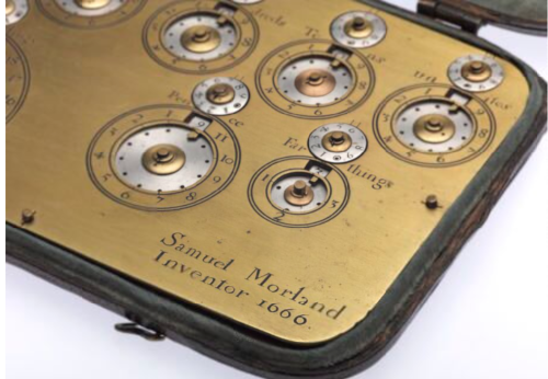 Morland's Adding Machine, close view