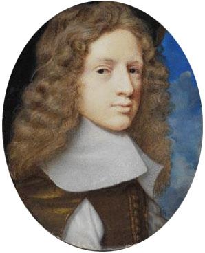 Sir Samuel Morland, painting from 1660-1661, artist Samuel Cooper