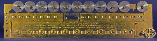 The multiplication machine of Morland , without the case (© Museo Galileo, Florence)