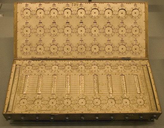 The calculating machine of René Grillet de Roven (© CNAM, Paris)