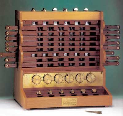 A replica of the Schickard's machine, created by Bruno v. Freytag Löringhoff in 1960 (© Universität Tübingen)