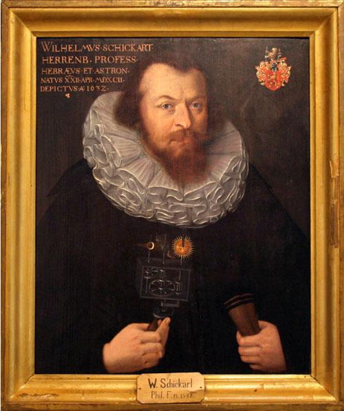 Wilhelm Schickard, portrait from 1632