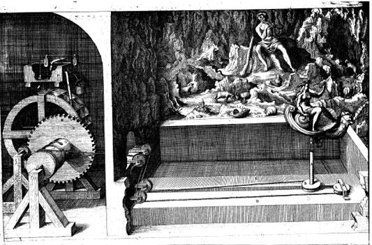 Another automaton of Salomon de Caus, a hydraulic grotto