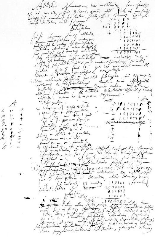 The second page of De Progressione Dyadica