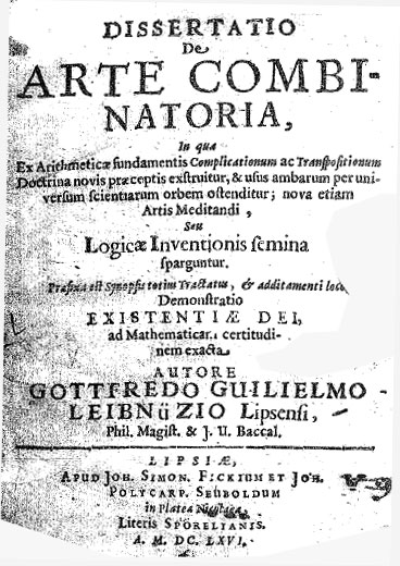 Dissertatio De Arte Combinatoria of Leibniz