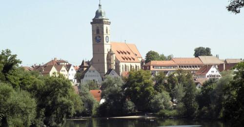 Stadtkirche St. Laurentius in Nürtingen, where Schickard served in 1614-1619