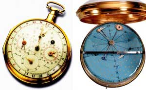 The double-dial astronomical watch, made by Jacob Auch