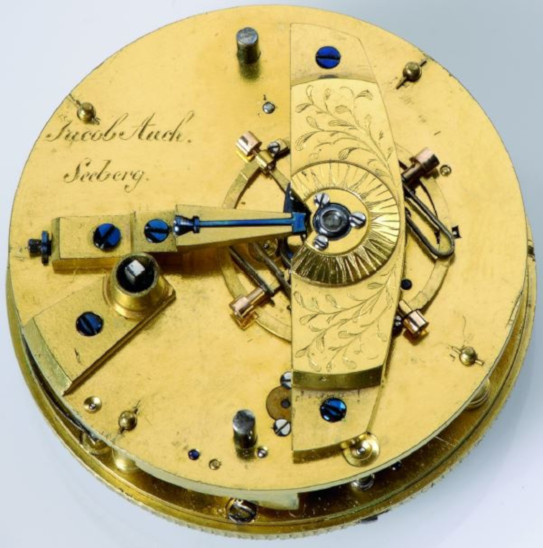 A pocket chronometer, made by Jacob Auch for Seeberg observatory