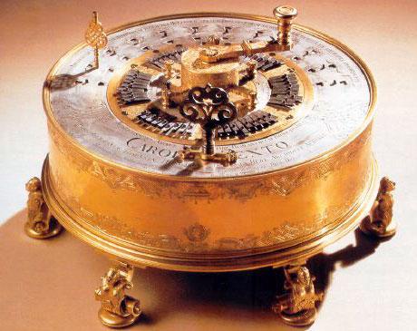 The first calculating machine of Anton Braun from 1727 (© Technischen Museum, Wien)