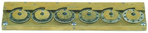 A replica of the adding machine of Hahn (© Arithmeum Museum, Bonn)