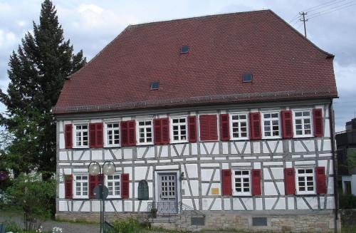 The Pfarrhaus (rectory) in Echterdingen, where Hahn lived 1781 to 1790