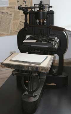 The printing press of Stanhope