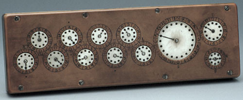The adding machine of Stanhope from 1780 (© Museum of the History of Science, Oxford)