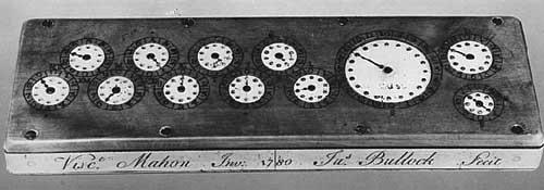 The adding machine of Stanhope from 1780