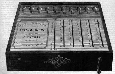 The Thomas' arithmometer from 1848
