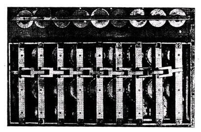 The calculating machine of Jewna Jakobson (back view without the cover)