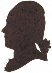 Johann Helfrich Müller - a silhouette, from the 1780s