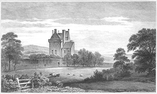 Merchiston Castle in Edinburgh in late 18th century