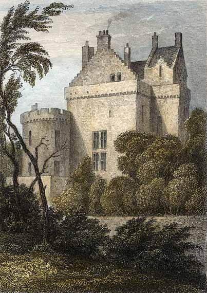 Merchiston Tower (Castle) (engravings from book Modern Athens, published in 1829)