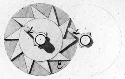 Figure 3: The star-wheel (tens carry mechanism) (© Stephan Weiss, www.mechrech.info)