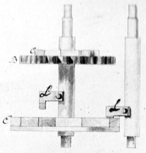 Figure 4: The internal mechanism (side view of gear-wheels) (© Stephan Weiss, www.mechrech.info)