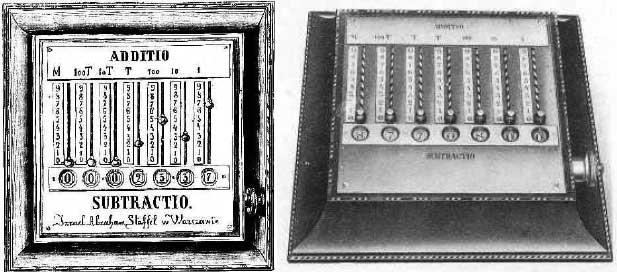 Staffel's adding machine (from the magazine Tygodnik Ilustrowany, 1867)