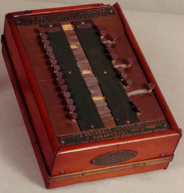 The Baranowski Tax Machine, part of the IBM Collection of historical calculating devices