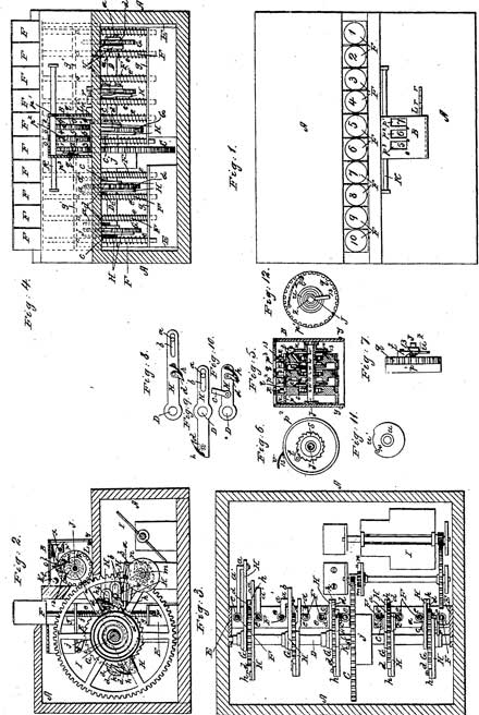 The patent drawing of the second machine of Castle