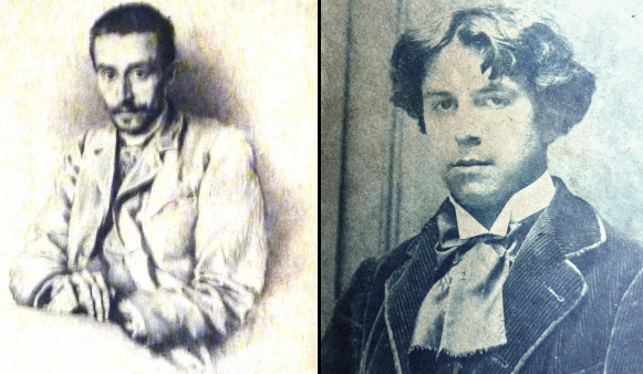 Fernand (left photo of a drawing from his brother) and Antony Troncet (1879-1939) as 18 y.o. in 1897