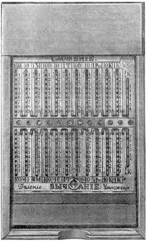 Kummers's adding device from 1846