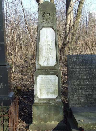 Slonimski's gravestone in the Jewish cemetery on Okopowa str. in Warsaw
