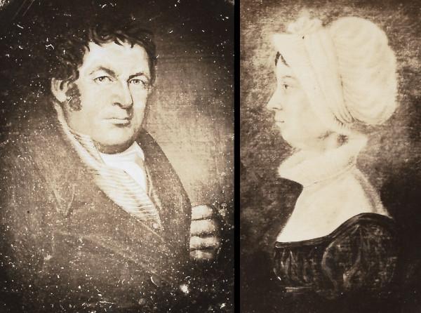 Thomas Hill Sr. (1771-1828) and his second wife, Henrietta (Barker) Hill (1774-1824)