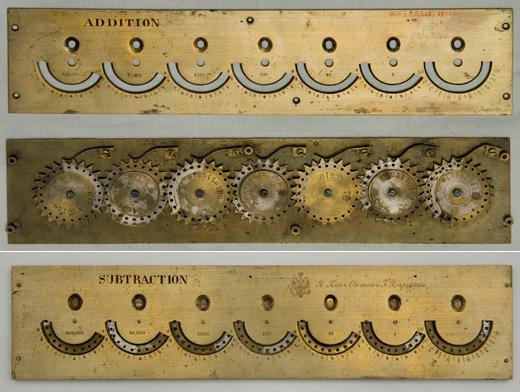 Slonimski's adding machine (© Museum of the Jagiellonian University, Poland)