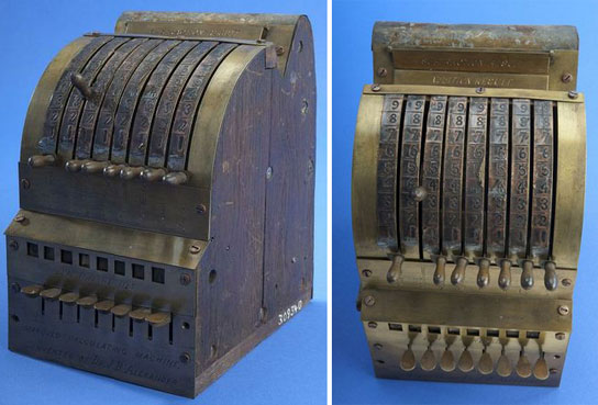 Joseph Bell Alexander's calculating machine (Courtesy of the Smithsonian Institution)