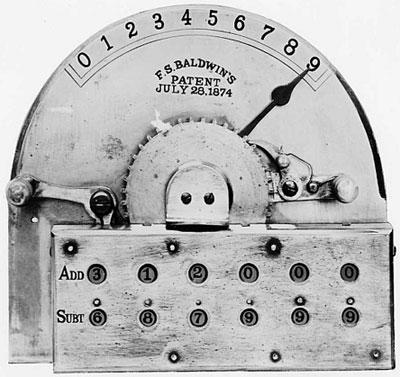 The Arithmometer of Frank Baldwin (© Monroe Calculator Company)
