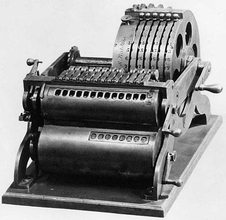 The first pin-wheel machine of Frank Baldwin