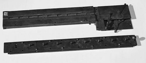 A part of the patent model of the second machine of Barbour (Courtesy of the Smithsonian Institution)