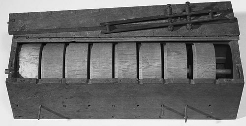 The first calculating machine of Edmund D. Barbour (Courtesy of the Smithsonian Institution)